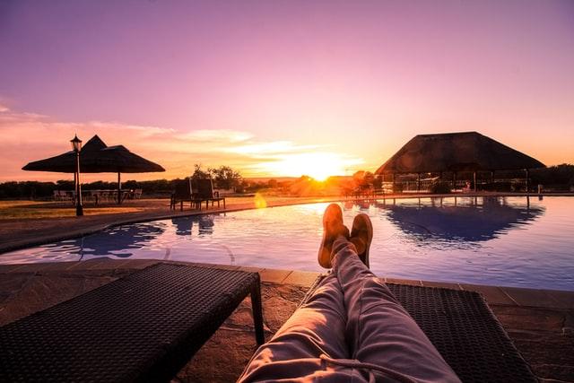 relaxing in resort